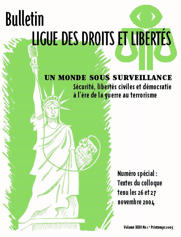 Numéro spécial : textes du colloque « Un monde sous surveillance »