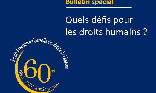 Quels défis pourles droits humains ?