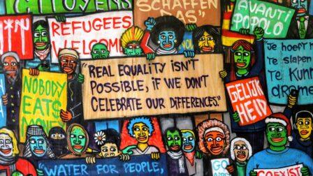 Murale représentant la liberté d'expression