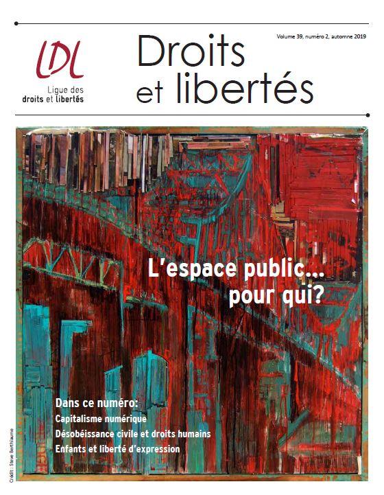 page couverture revue droits et libertés
