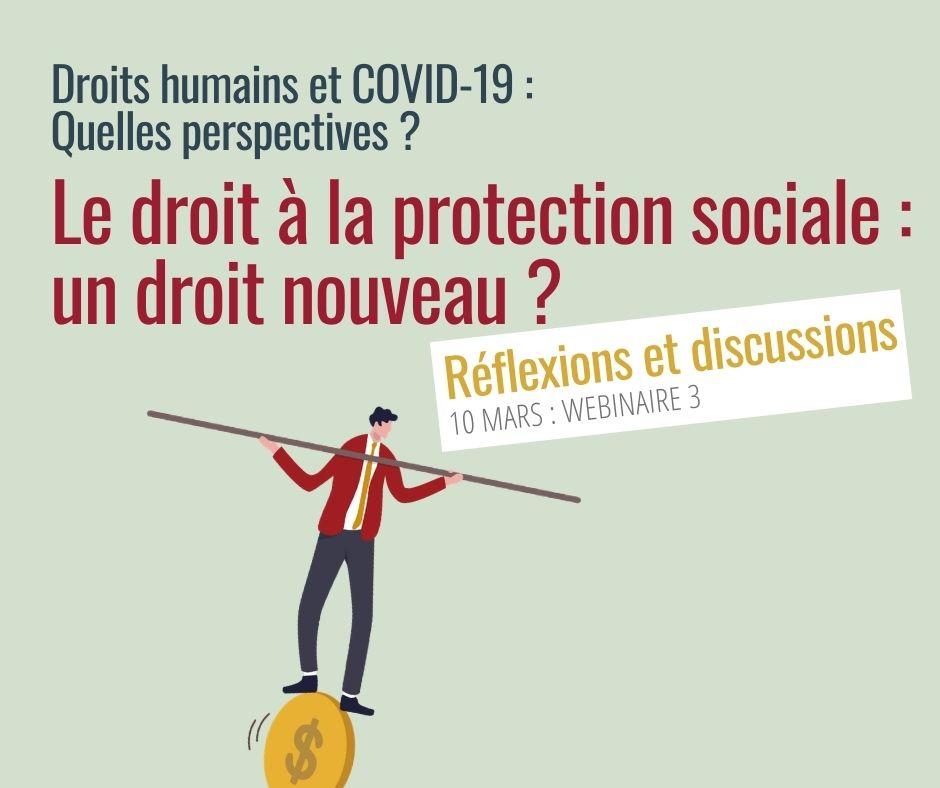 webinaire le droit à la protection sociale : un droit nouveau?