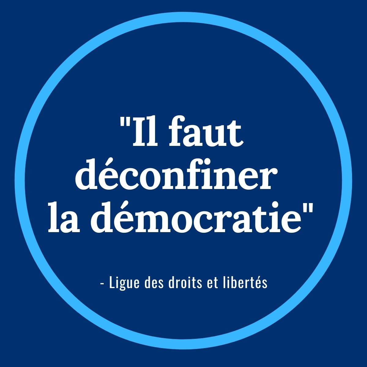 Vignette Il faut déconfiner la démocratie