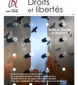 Revue de la LDL: «Droits et libertés... en mouvance»