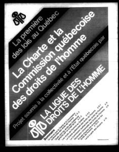 avant-projet de loi de la charte et la commission québécoise des droits de l'Homme